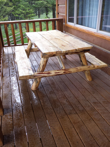 Please Call For Info On These Stylish, Yet Functional Custom Made Rustic Log  Picnic Tables!
