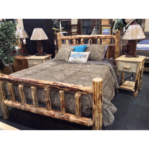 Montana Pioneer Rustic Log Bed