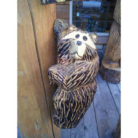 "Chainsaw carved bear-20"" climber"