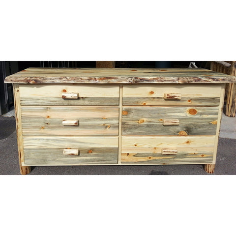 Montana Pioneer Rustic 6-Drawer Log Dresser