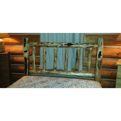 Frontier Trail Rustic Log Headboard