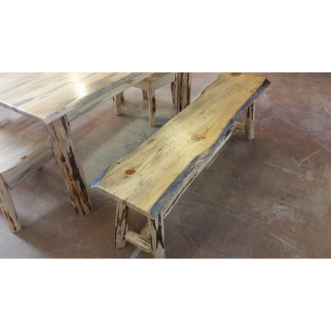 Montana Pioneer Rustic Log Dining Bench