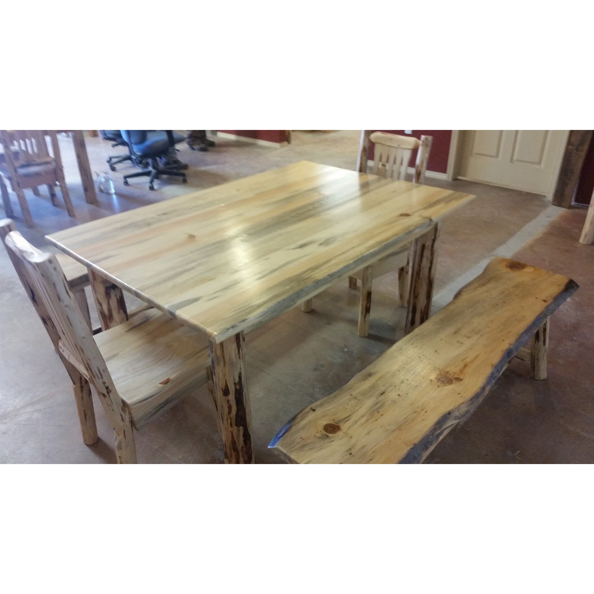 Montana pioneer rustic log dining table great northern logworks montana pioneer rustic log dining table dzzzfo