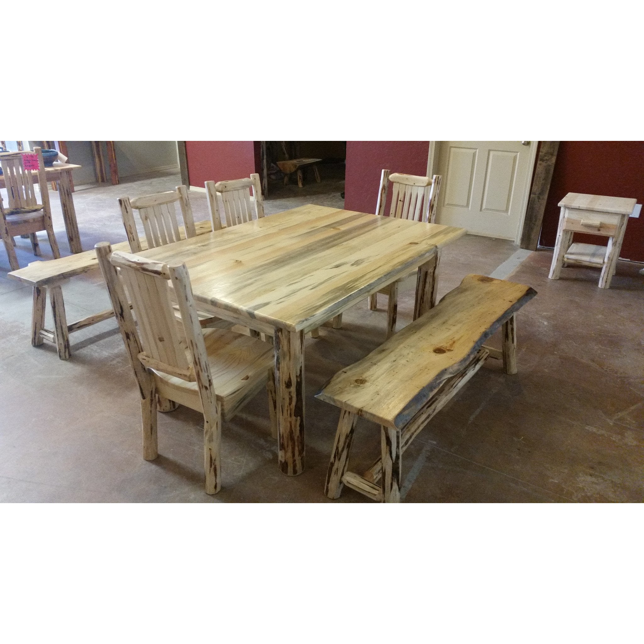 Montana Pioneer Rustic Log Dining Bench Great Northern