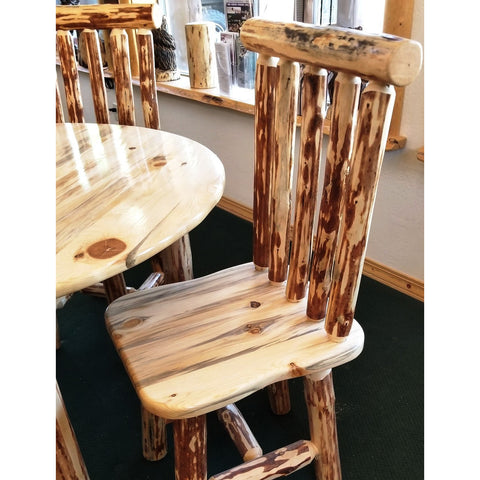 Montana Pioneer Rustic Log Dining Chair