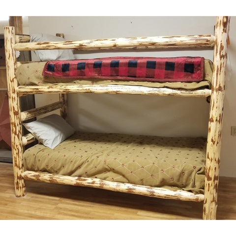 Montana Pioneer Corral Style Log Bunk Bed