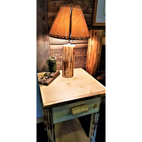 Montana Pioneer Log Table Lamp (No Shade)