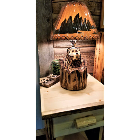 "Bear ""Stump"" Lamp (No Shade)"