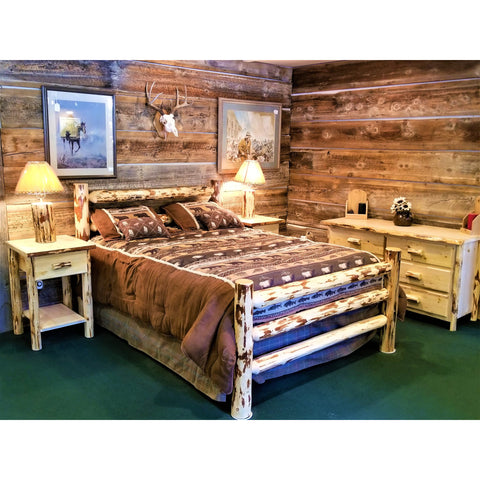 Montana Corral Style Log Bed
