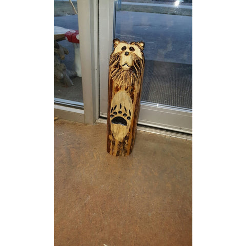 3D Chainsaw Bear Carving Door Stop with Paws -FREE SHIPPING