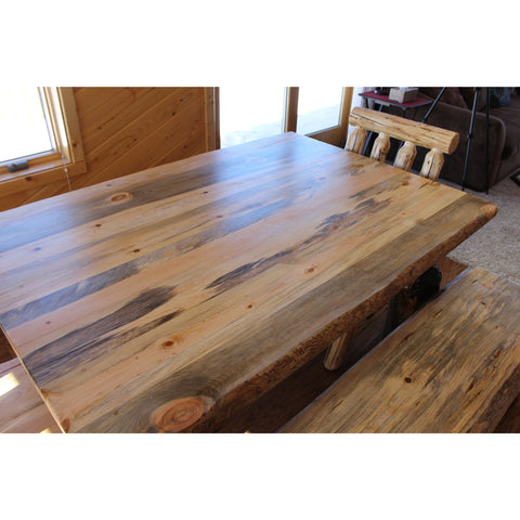 Montana Pioneer Rustic Log Dining Table