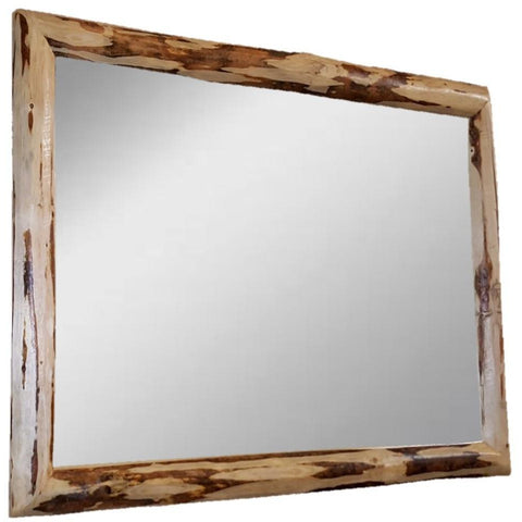 Montana Pioneer Rustic Log Mirror 2x3 ft.