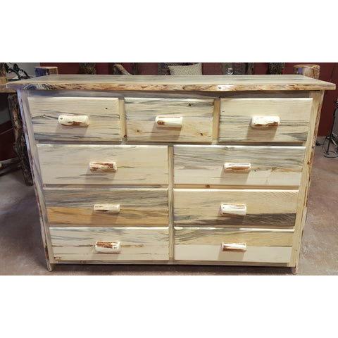 Montana Pioneer Rustic 9-Drawer Log Dresser