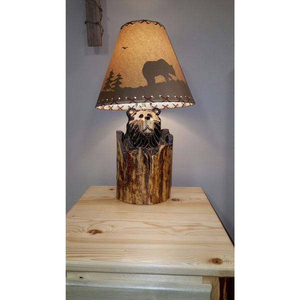 Quot Stump Quot Bear Lamp Free Shipping Great Northern Logworks