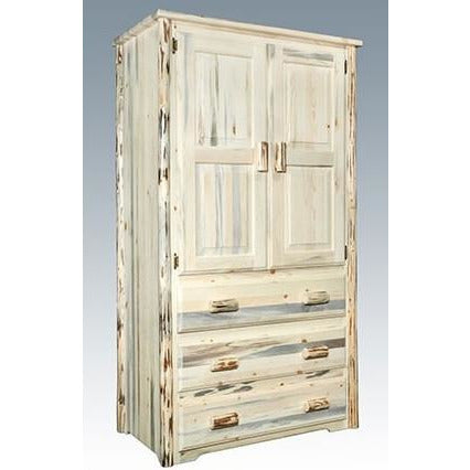 Montana Lodge Armoire with 3 Drawers