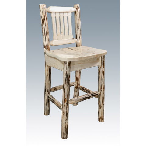 Montana Lodge Bar Stool with Back