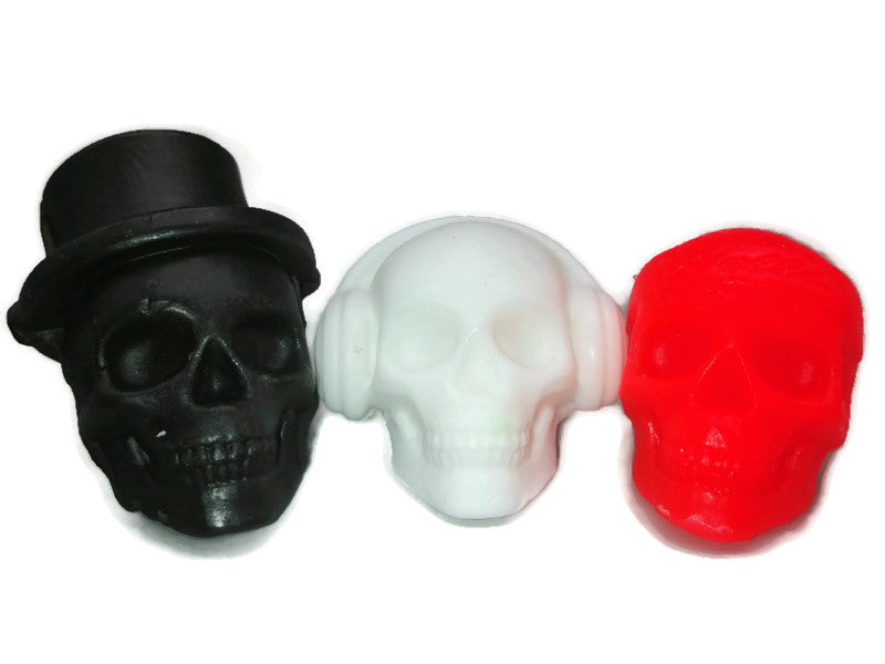 Smelly skulls! set of three small skull soaps