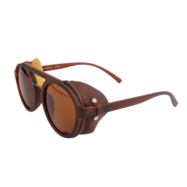 Vintage Brown Motorcycle Sunglasses