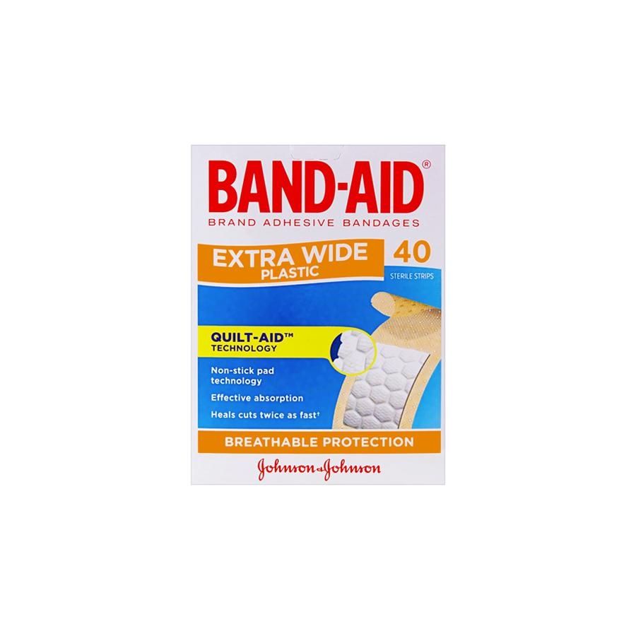 Bandaid Extra Wide Strips 40's - Schiel Safety NZ