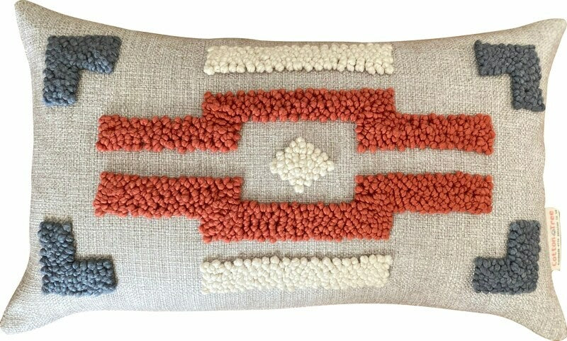 Punch Needle Cushion - Ndebele Pattern 3 (60cmx40cm)