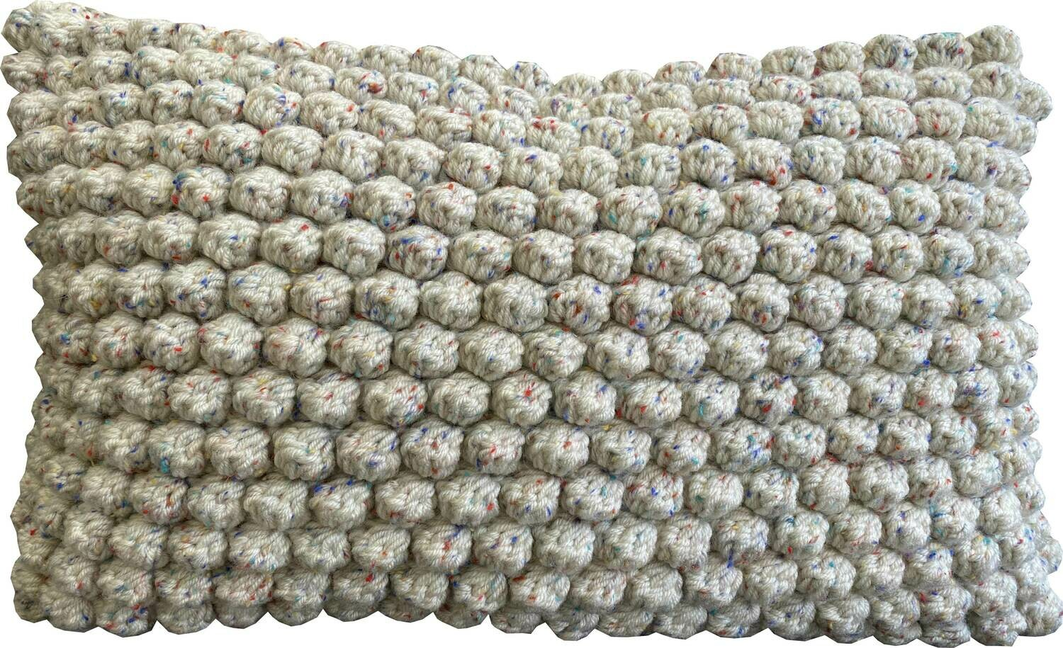 Naturals - Bobble Cushion with Coloured Fleck (50x30)