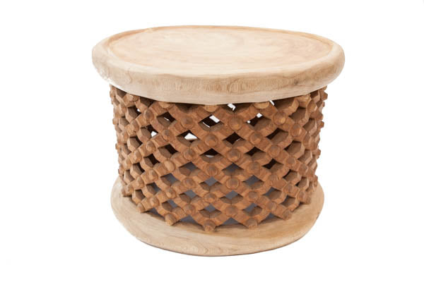 Bamileke Stool - M -50cm - Natural