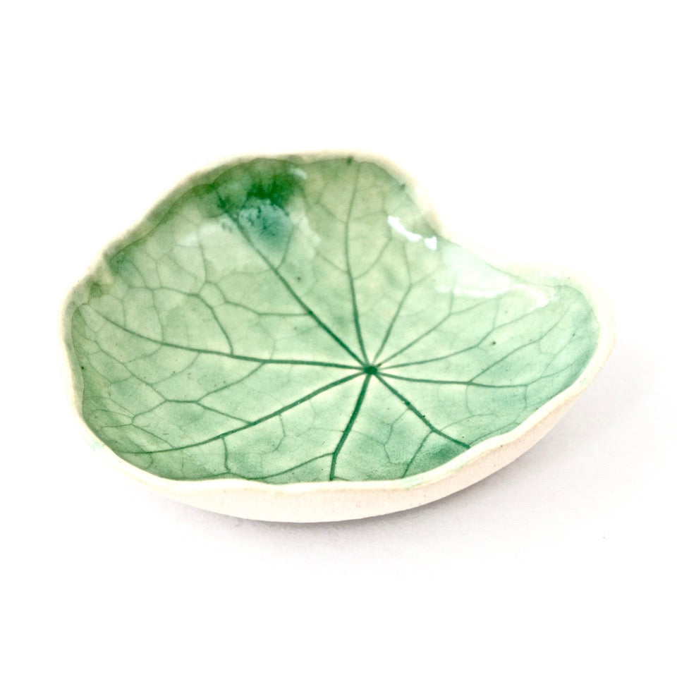 Ceramic Leaf – Nasturtium Small (Sage)