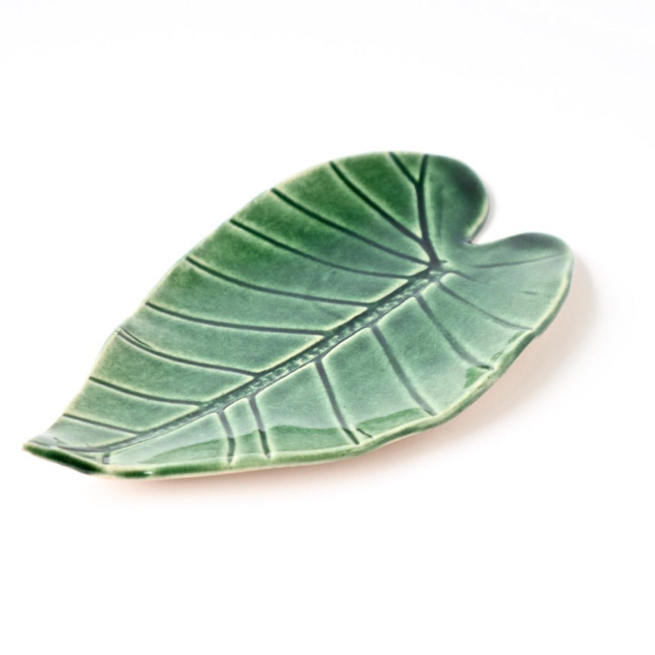 Ceramic Leaf – Elephant Ear Medium (Green)