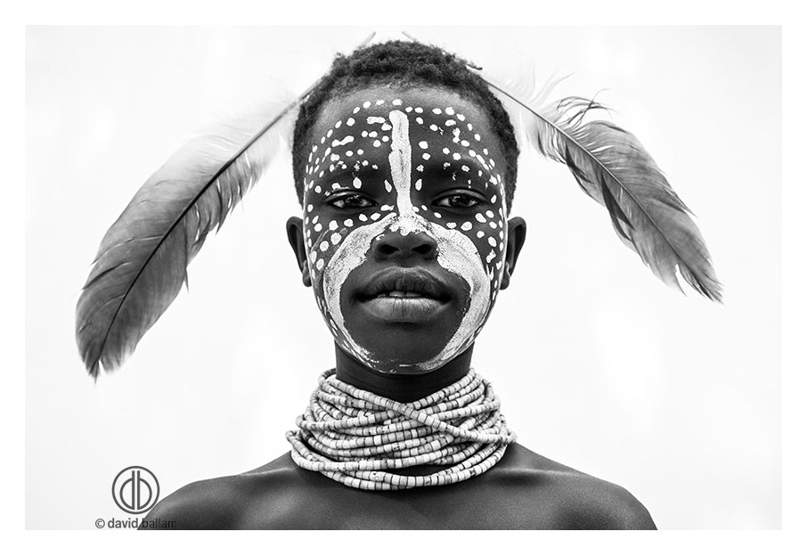 David Ballam - OMO 83 - Karo Boy, Omo Valley, Ethiopia