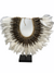 Handmade Dark Shell & White Feather necklace