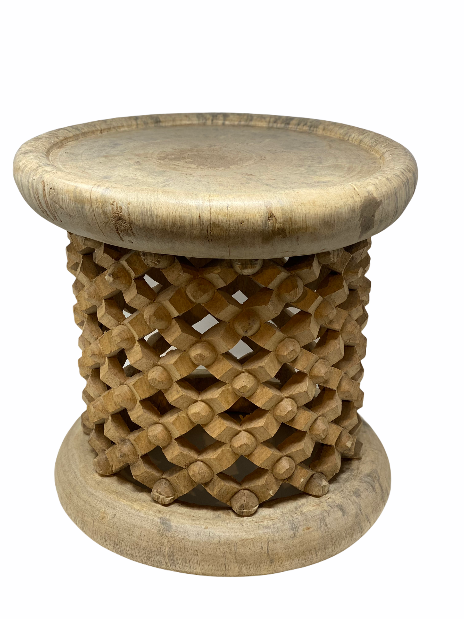 Bamileke Stool \ Table - 40cm - Natural