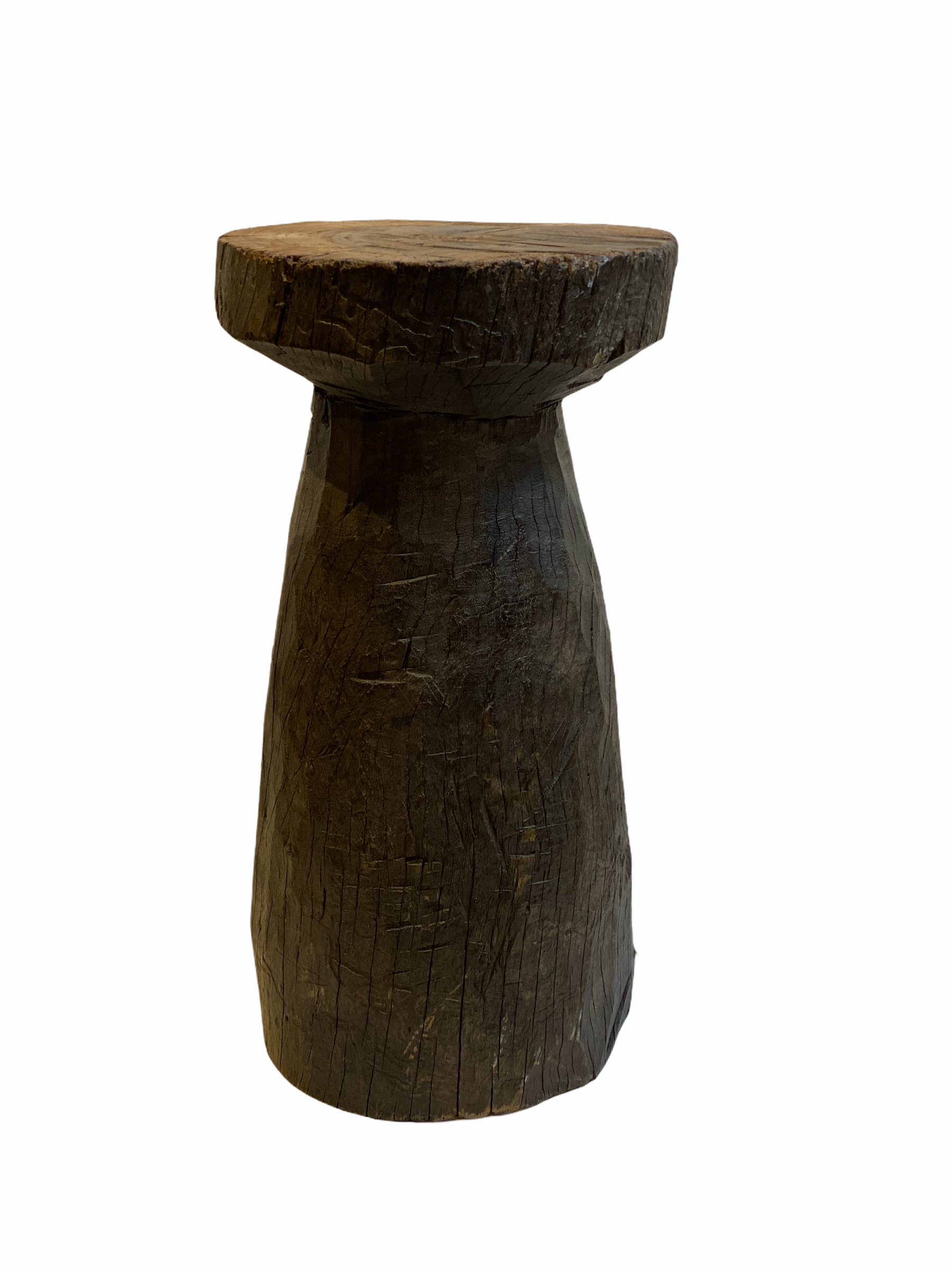 Lozi Grain Stomper Stool/Side Table (1) - Zambia