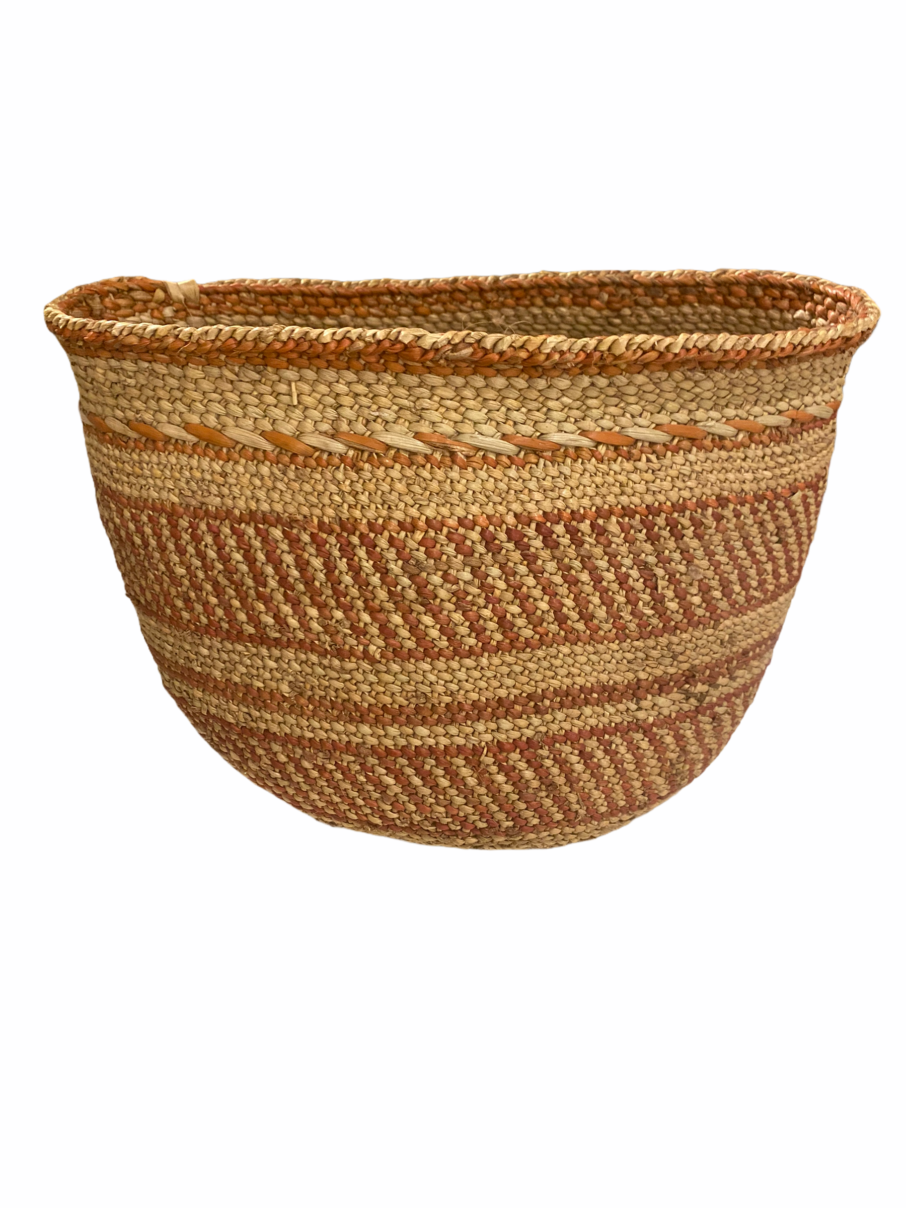 Iringa Basket - Brown Striped - XS