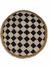Cameroon Beaded Shield - L - 55cm black n white