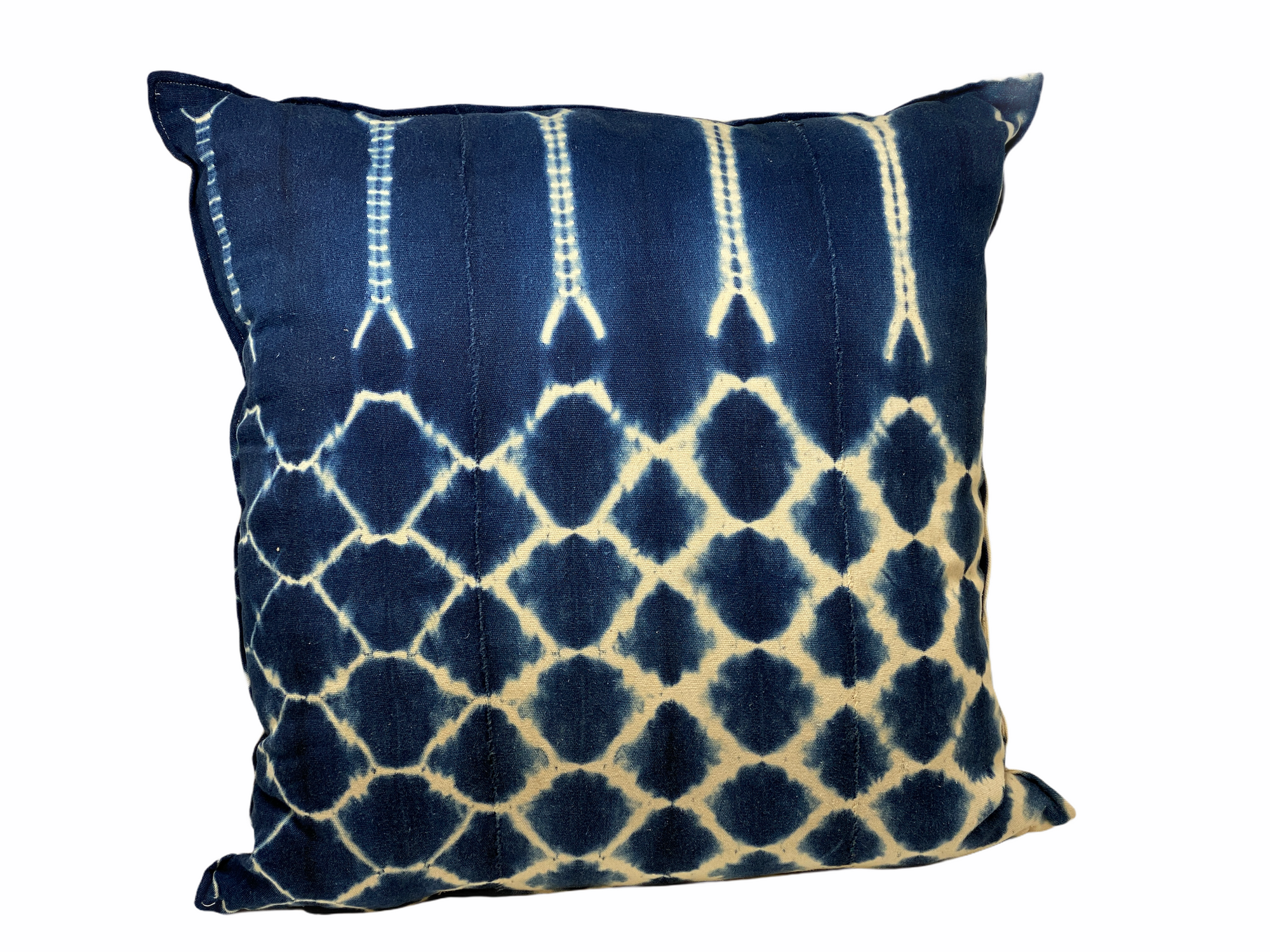 Indigo/Baule Cloth Cushions 60x60cm