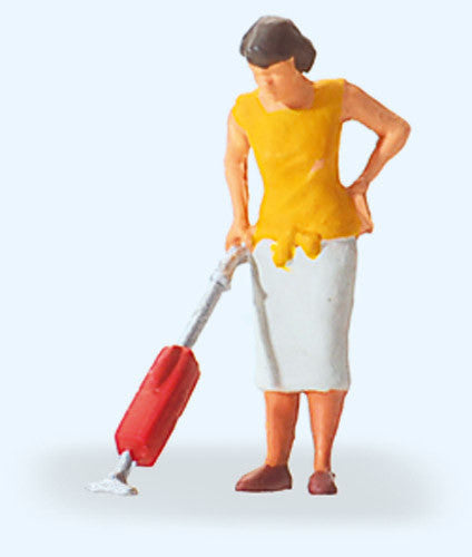 Woman with Vacuum Cleaner Figure