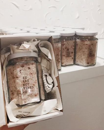 Luxury Bath Salts | 300g | Scented | Fragrance Free | Candles | Body Candle | Witch | Decor | Female Form | Body Positive | Wholesale | We Are Not Vibes | Handmade in Australia | Female Owned | Vegan | Eco-Friendly | Sustainable | Ethical | Tumble Stone | Crystals | Stones | Gems