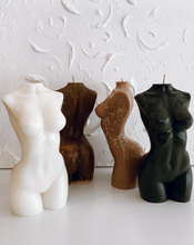 Load image into Gallery viewer, FEMALE FORM BODY POSITIVE CANDLE ~ MALE FORM BODY POSITIVE CANDLE ~ WE ARE NOT VIBES ~ HANDMADE IN AUSTRALIA
