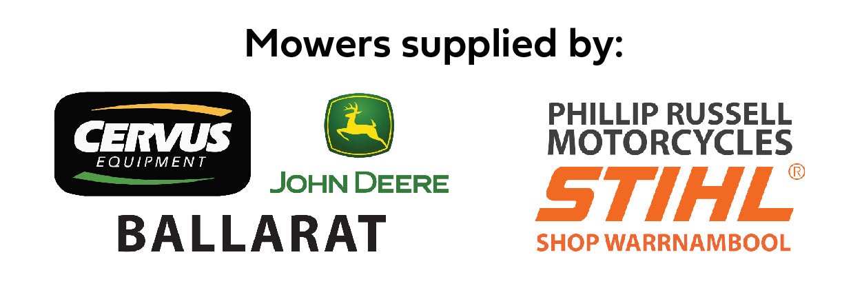 Ride on Mowers supplied by Cervus Equipment John Deere Ballarat and Phillip Russell Motorcycles Stihl Shop Warrnambool.