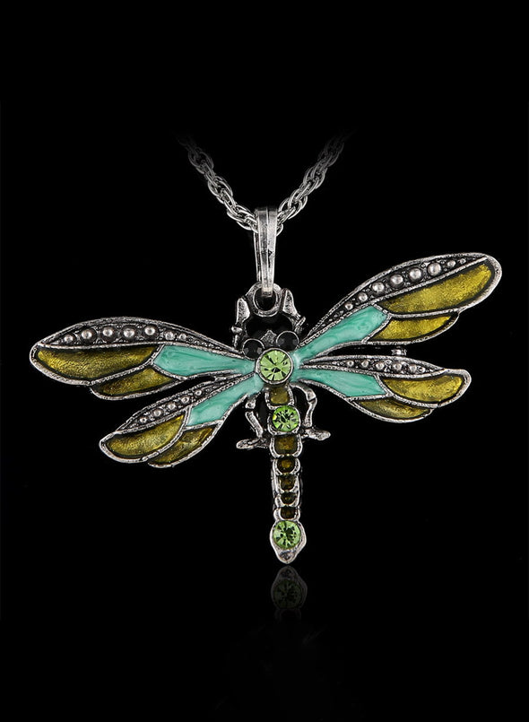 Green Women's Dragonfly Creative Necklace LC01817-9