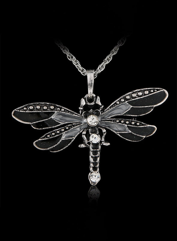 Black Women's Dragonfly Creative Necklace LC01817-2