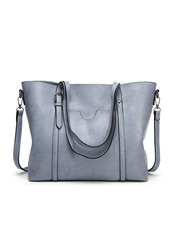 Gray Women's Bags Tote Horizontal Square Type One-shoulder Bag LC003055-11