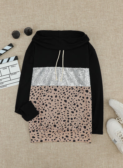 Leopard Leopard Long Sleeve Hooded Sweatshirt LC2533228-20