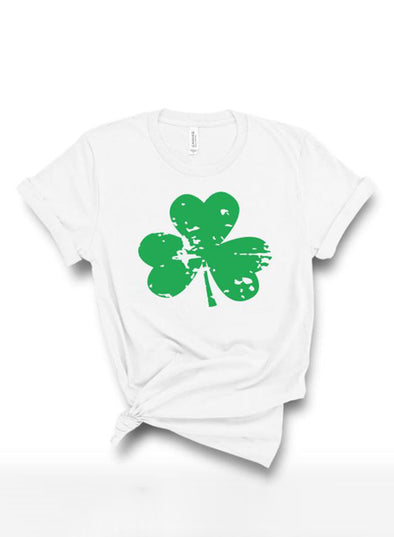 White Women's T-shirts Saint Patrick's Day Print Short Sleeve Round Neck Daily T-shirt LC2523363-1