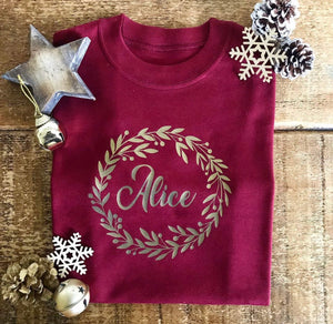 Christmas Wreath- Baby Vest
