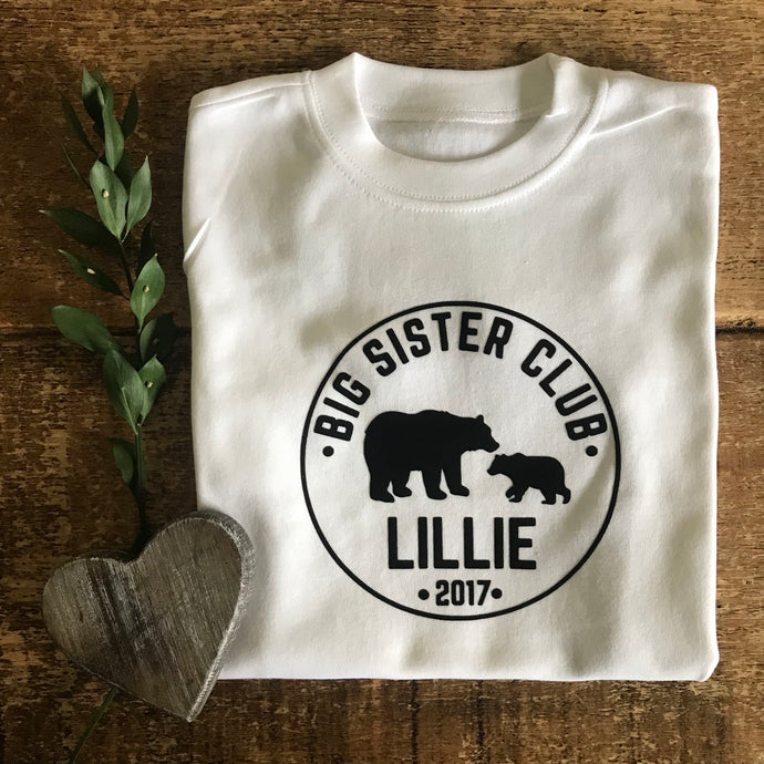 Little Sister/Brother Bear - Baby Vest