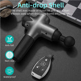 Massage Gun Blusmart Handheld Percussion Muscle Massager for Athleter with 8 Massage Heads and 20-Speed Vibration Deep Tissue