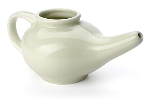 Aromatic Salt Premium Ceramic Neti Pot, Green
