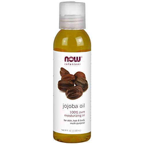 NOW Solutions, Jojoba Oil, 100% Pure Moisturizing, Multi-Purpose Oil for Face, Hair and Body, 4-Ounce