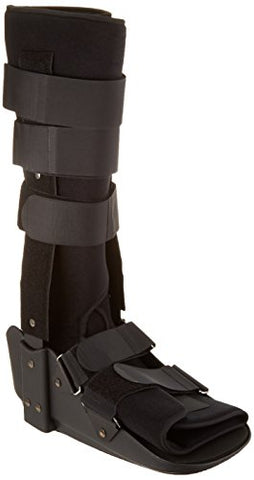 Sammons Preston Low Profile Fixed Ankle Walker High, Large, Comfort Brace for Recovery and Rehabilitation, Medical and Patient Use for Fractures, Ankle Sprains, Foot Injuries, Long Time Wear